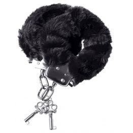 Наручники меховые черные 951031