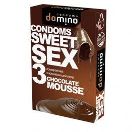 ПРЕЗЕРВАТИВЫ DOMINO SWEET SEX CHOCOLATE MOUSSE 3штуки (оральные)