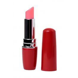Вибромассажер  Lipstick, ABS пластик, красный, 9 см