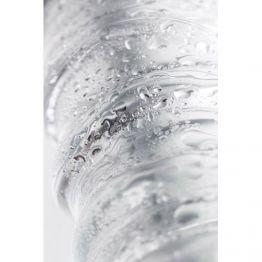 Нереалистичный фаллоимитатор , Стекло, Прозрачный, 15 см,912179