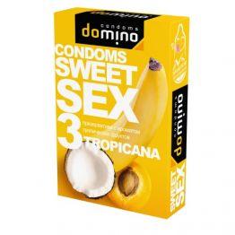 ПРЕЗЕРВАТИВЫ DOMINO SWEET SEX TROPICANA 3штуки (оральные)