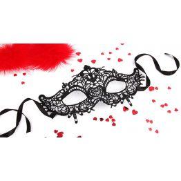 МАСКА АЖУРНАЯ ПАМЕЛЛА цвет чёрный, текстиль арт. EE-20362