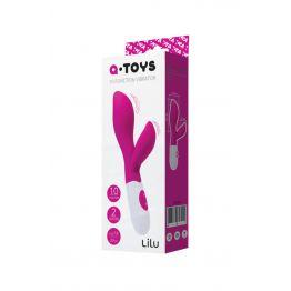 Вибратор с клиторальным стимулятором TOYFA A-Toys Lilu, Силикон, Розовый, 20 см