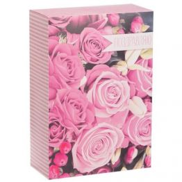 Коробка прямоугольная Прекрасные розы, 16 х 23 х 7,5 см