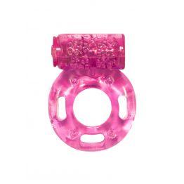 Эрекционное кольцо с вибрацией Rings Axle-pin pink 0114-83Lola