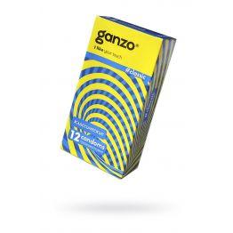Презервативы Ganzo Classic, классичесике, с обильной смазкой, латекс, 18,5 см, 12 шт
